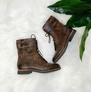 Rockport brown leather booties